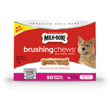 Milk-Bone Brushing Chews Daily Dental Treats Mini 19.6 oz Extra Value Pack