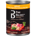 Pure Balance Chicken Vegetables and Brown Rice Stew Adult Canned Dog Food