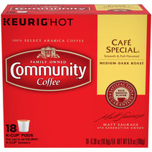 Community Coffee Cafe Special Medium-Dark Roast Coffee K-Cup Pods