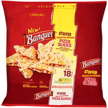 Banquet Stuffed Reduced Fat Pepperoni Frozen Pizza Slices