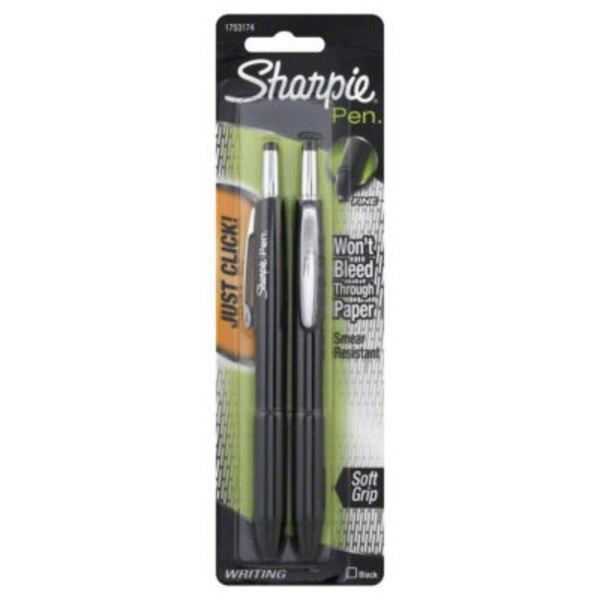 Sharpie Pen Retractable Black - 2 CT