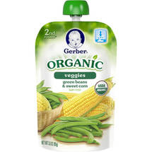 Gerber 2nd Foods Organic Veggies Green Beans & Sweet Corn Baby Food