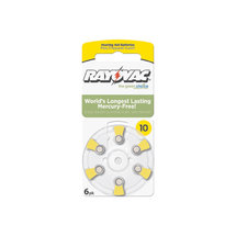 Rayovac Size 10 Hearing Aid Battery Mercury Free Batteries