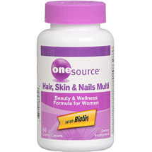 OneSource Hair Skin & Nails Multi Beauty & Wellness Formula For Women