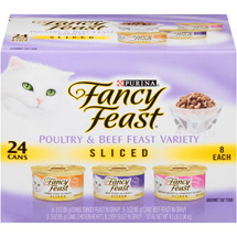 Fancy Feast Sliced 3-Flavor Variety Pack Cat Food