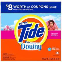 Ultra Tide Plus a Touch of Downy April Fresh HE Powder Laundry Detergent