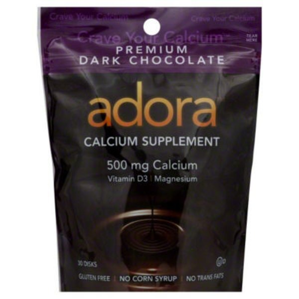 Adora Dark Chocolate Calcium Supplement