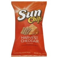 Sun Chips Harvest Cheddar 100% Whole Grain Corn Wheat Snacks