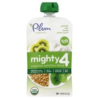 Plum Organics Mighty 4 Spinach, Kiwi, Barley Greek Yogurt