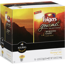 Folgers Gourmet Selections Morning Cafe K-Cup Ground Coffee