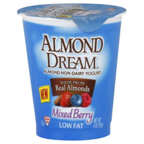 Almond Dream Almond Non-Dairy Yogurt Low Fat Mixed Berry