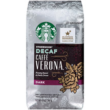 Starbucks Caffe Verona Decaf Ground Coffee