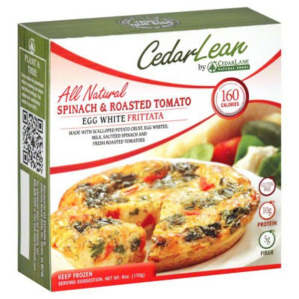 CedarLean Egg White Frittata Spinach & Roasted Tomato