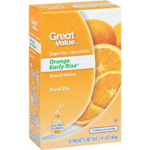 Great Value Orange Early Rise Drink Mix