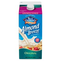 Blue Diamond Almond Breeze Unsweetened Original Almondmilk Non Dairy Milk Alternative