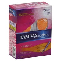 Tampax Radiant Tampax Radiant Plastic Super Plus Absorbency Tampons 16 Count Feminine Care