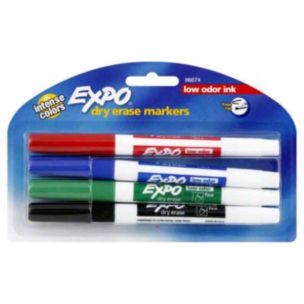 Expo Dry Erase Markers Low Odor Ink - 4 CT