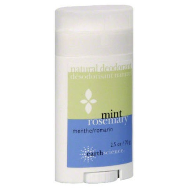 Earth Science Naturals Natural Deodorant, Mint, Rosemary