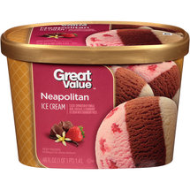 Great Value Vanilla Bean/Chocolate/Strawberry Ice Cream