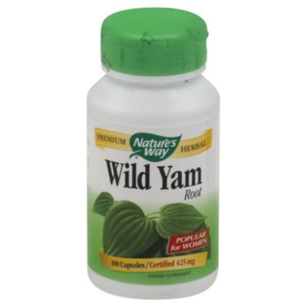 Nature's Way Wild Yam, Certified 425 mg, Capsules