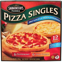 Sabatasso's Thin Crust Pepperoni/Four-Cheese Pizza Singles