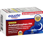Equate Extra Strength Pain Reliever PM