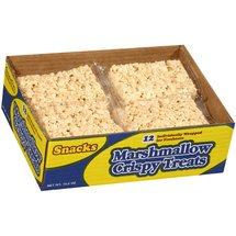 JTM Foods Individually Wrapped 1.6 oz. Ea. Marshmallow Crispy Treats