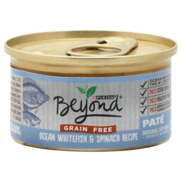Purina Beyond Cat Wet Grain Free Ocean Whitefish & Spinach Recipe Cat Food