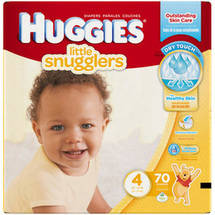 HUGGIES Little Snugglers Diapers Super Pack Size 4