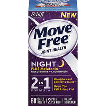 Schiff Move Free Joint Health Night 2-in-1 Formula Dietary Supplement