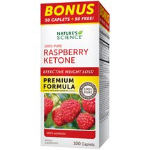 Nature's Science Raspberry Ketone Dietary Supplement Caplets