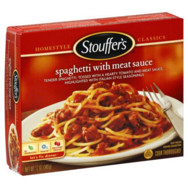 Stouffer's Classics Freshly made spaghetti tossed in a seasoned tomato & beef sauce Spaghetti with Meat Sauce