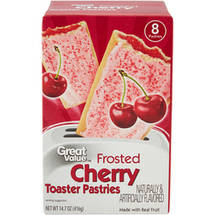 Great Value Frosted Cherry Toaster Pastries 8 Ct/14.6 Oz