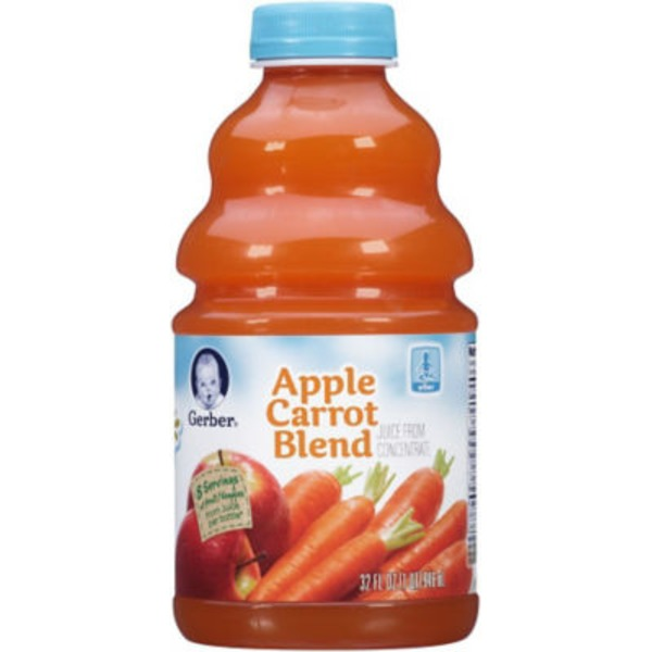 Gerber Juice Apple Carrot Blend Juice Fruit