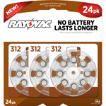 Rayovac Type 312 Hearing Aid Batteries