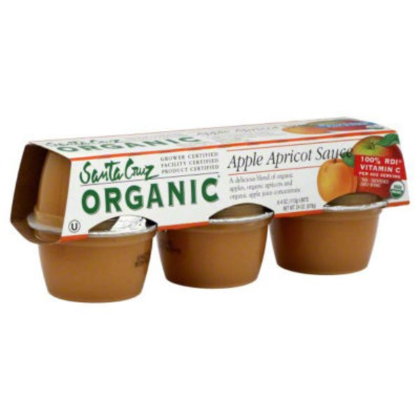 Santa Cruz Organics Apple Apricot Sauce - 6 CT
