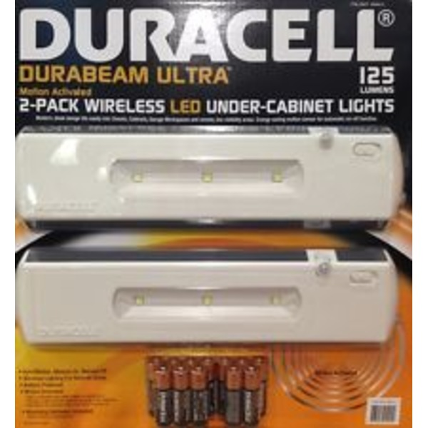 Bon Duracell LED Under Cabinet Light 2 Pack