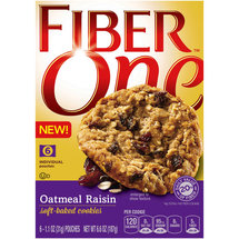 Fiber One Oatmeal Raisin Soft Baked Cookies