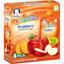 Gerber Graduates Grabbers Apple & Sweet Potato Squeezable Fruit & Veggies