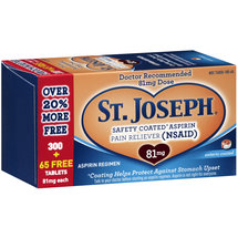 St. Joseph Safety Coated Aspirin Pain Reliever Tablets