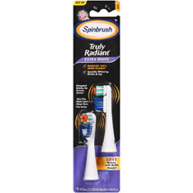 Arm&Hammer Spinbrush Truly Radiant Extra White Replacement Brush HeadsSoft
