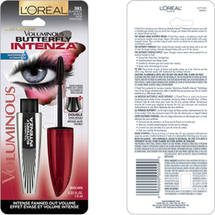 L'Oreal Paris Voluminous Butterfly Intenza Mascara 381 Blackest Black