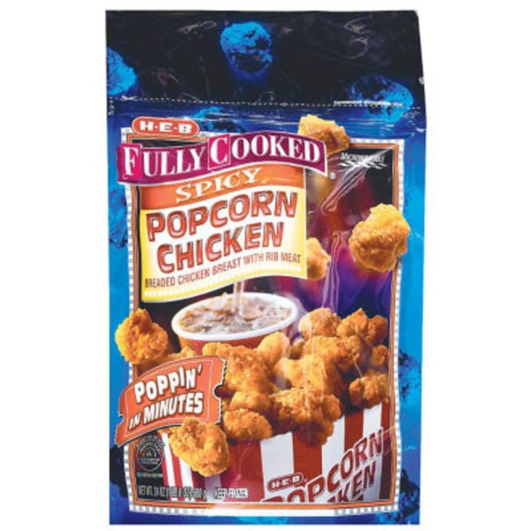 H-E-B Fully Cooked Spicy Popcorn Chicken