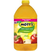 Motts 100 Apple Juice 128 Fl Oz