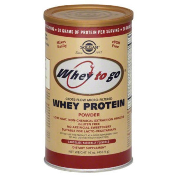 Solgar Whey to Go Whey Protein Powder Natural Chocolate