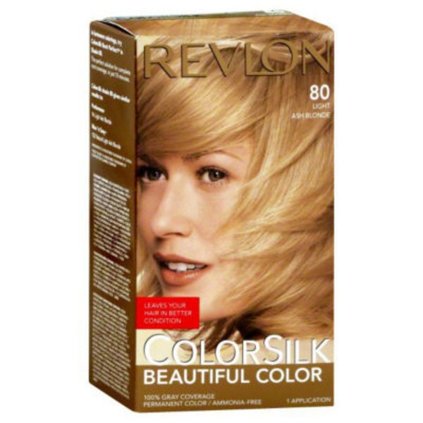 Revlon Colorsilk Beautiful Color Monica Free 3D Color Technology 80 Light Ash Blonde