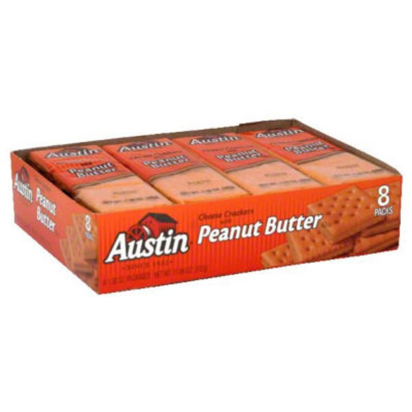 Austin Cheese with Peanut Butter Cracker Sandwiches