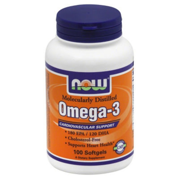 Now Omega-3, Softgels, Bottle