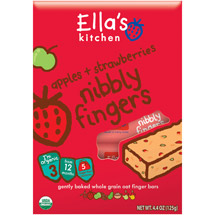 Ella's Kitchen Apples & Strawberries Nibbly Fingers Stage 3 Baby Food