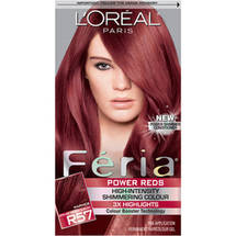 L'Oreal Paris Feria Power Reds Permanent Haircolour Gel R57 Intense Medium Auburn
